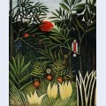 Landscape with monkeys