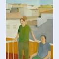 Couple on the balcony