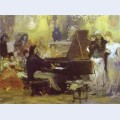 Chopin performing in the guest hall of anton radziville in berlin in