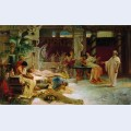 Socrates finds his student alcviad at heterai