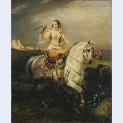An algerian lady hawking