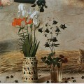 Flower detail from the central panel of the portinari altarpiece