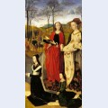 The portinari altarpiece st mary magdalen and st margaret with maria baroncelli and daughter