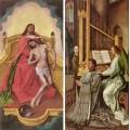 The trinity altar panels detail