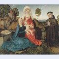 Virgin and child with st anne and a franciscan donor