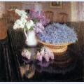 Lilacs and forget me nots