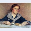 Portrait of artist s wife