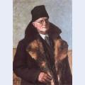 Self portrait in furs