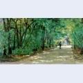 Alley in the park kachanovka