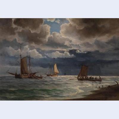 Sea and boats