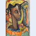 Portrait of a west african girl