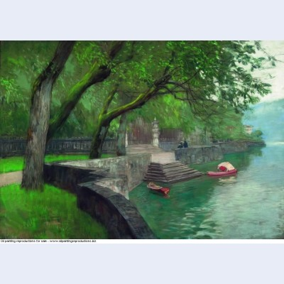 At the lake como enbankment 1894