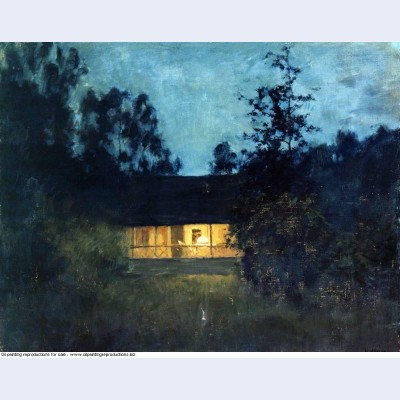 At the summer house in twilight
