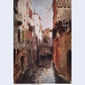 Canal in venice 1890