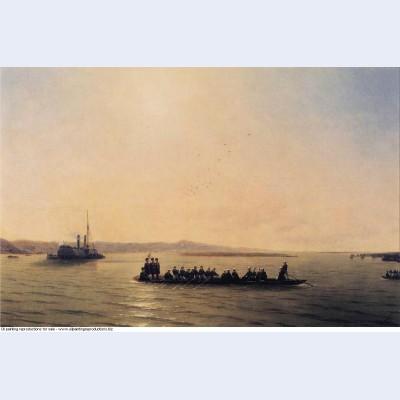 Alexander ii crossing the danube 1878