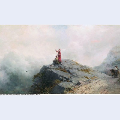 Dante shows the artist in the unusual clouds 1883