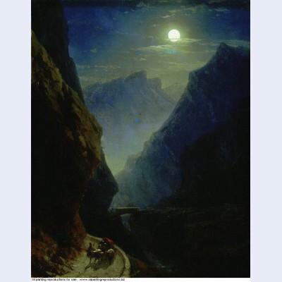 Darial gorge moon night 1868