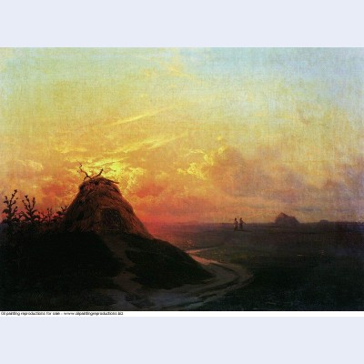 Field sunset 1861
