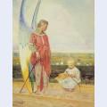 Angel and the little shepherd boy