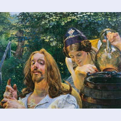 Christ and samaritan woman 2