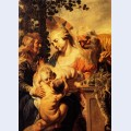 Holy family with elizabeth and child john the baptist