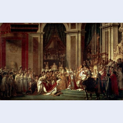 The consecration of the emperor napoleon and the coronation of the empress josephine by pope