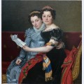The sisters zenaide and charlotte bonaparte