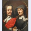 Portrait of jacques stella and her mother claudine de masso