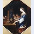 Sainte cecile playing the organ
