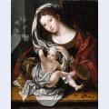 Madonna and child playing with the veil 2