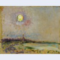 Landscape with full moon
