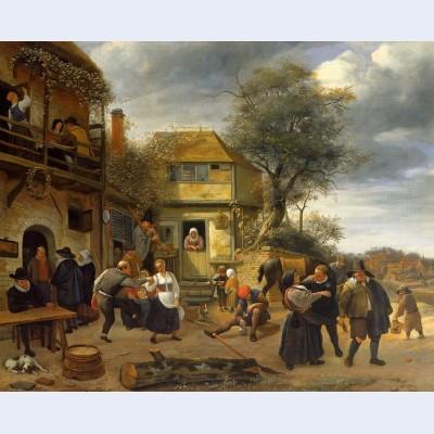 Peasants before an inn