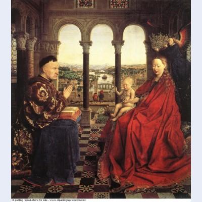 The rolin madonna la vierge au chancelier rolin 1435