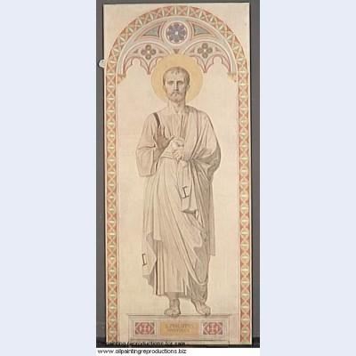 Cardboard window of the chapel of st ferdinand st philip the apostle