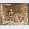 Philip v handing around the golden fleece to the duke of berwick after the battle of almanza