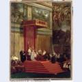 Pope pius vii luigi barnaba chiaramonti attending chapel 1820