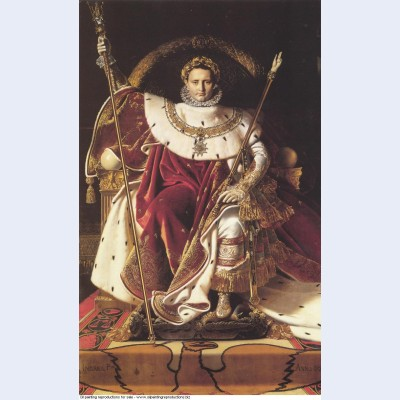 Portrait of napoleon on the imperial throne 1806