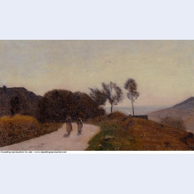 A road in the countryside near lake leman 1855