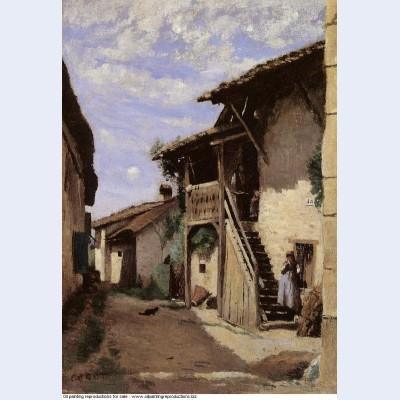 A village street dardagny 1853