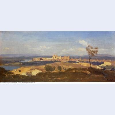 Avignon seen from villenueve les avignon 1836