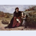 Breton woman and her little girl