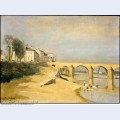 Bridge on the saone river at macon 1835