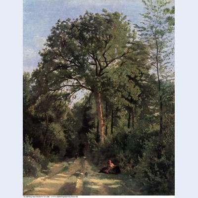 Forest entrance at ville d avray