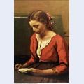 Girl reading 1850