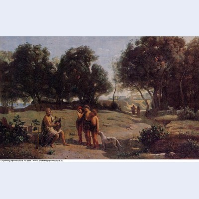 Homer and the shepherds in a landscape 1845