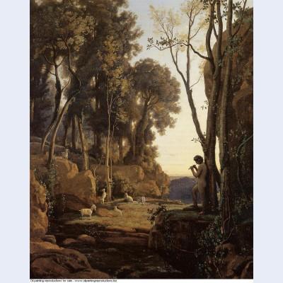 Landscape setting sun the little shepherd 1840