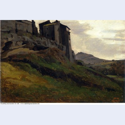 Marino large buildings on the rocks 1827