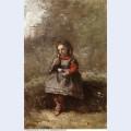 Mlle leotine desavary holding a turtledove 1872