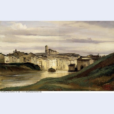 On the banks of the tiber 1826
