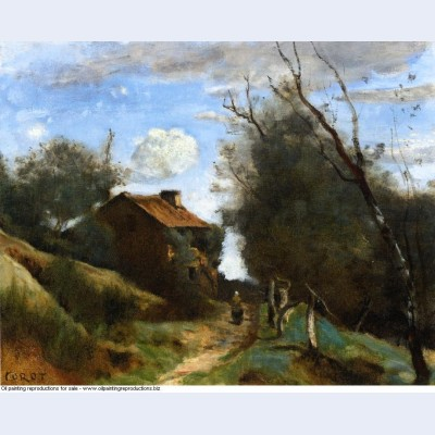 Path towards a house in the countryside